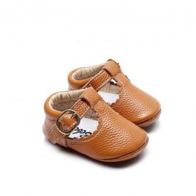 Babies Cuir Premiers Pas Camel