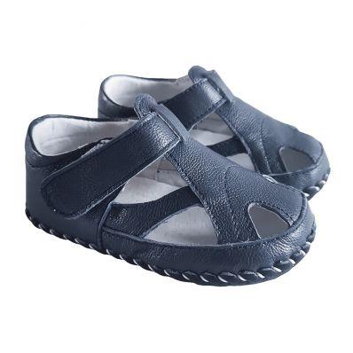 Chaussures premiers pas cuir souple sandales fermées BG