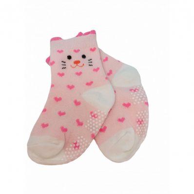 chaussette antidérapante COEUR C2BB - chaussons, chaussures, chaussettes pour bébé