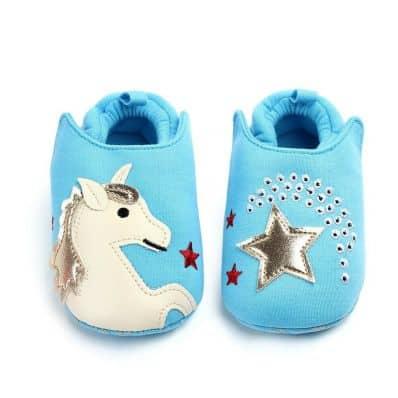 Chaussons en tissu LICORNE C2BB - chaussons, chaussures, chaussettes pour bébé