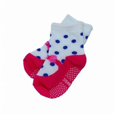 Chaussette antidérapante POIS - Reconditionné C2BB - chaussons, chaussures, chaussettes pour bébé