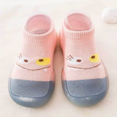 Chaussons-chaussettes respirants SMILEY C2BB - chaussons, chaussures, chaussettes pour bébé
