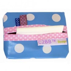 Pocket handkerchiefs MADE IN FRANCE | Blue with white dots