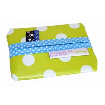 Pocket handkerchiefs MADE IN FRANCE | Light green with white dots