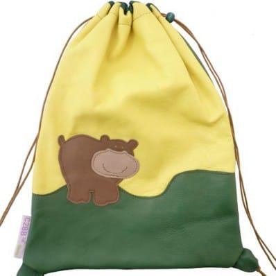 Baby leather school bag | Bear