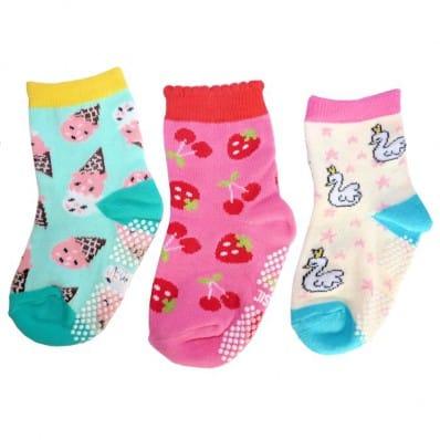 3 paia di calzini antisdrucciolo bambino di 1 a 3 anni | Ragazza 8
