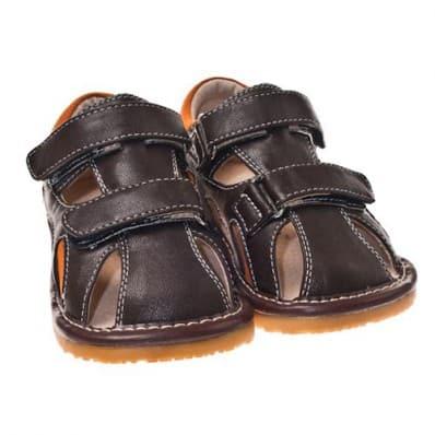 Little Blue Lamb - Chaussures à sifflet | Sandales fermées marron