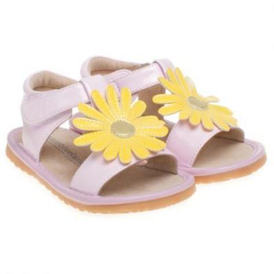 Little Blue Lamb - Chaussures à sifflet | Sandales marguerite rose cérémonie