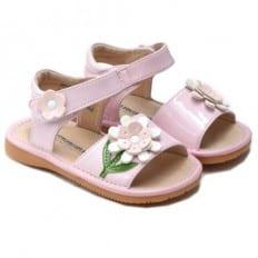 Little Blue Lamb - Scarpine bimba primi passi con fischietto | Cerimonia di sandali colore rosa