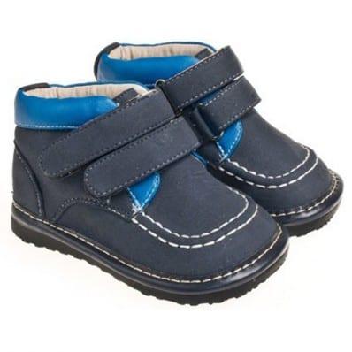 Little Blue Lamb - Zapatos de cuero chirriantes - squeaky shoes niños | Derbys azul marino