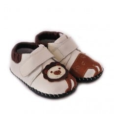 CAROCH - Baby boys first steps soft leather shoes | Lion sneakers