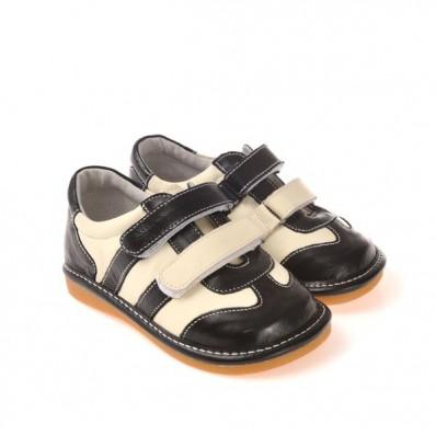 CAROCH - Scarpine bimba primi passi con fischietto   Sneakers nero e bianco