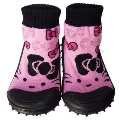 Hausschuhe - Socken Baby Kind geschmeidige Schuhsohle Mädchen | Querbinder