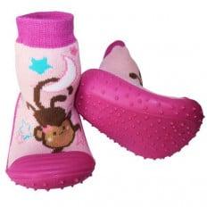 Hausschuhe - Socken Baby Kind geschmeidige Schuhsohle Mädchen | Kleine Affe