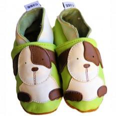 Zapitillas de bebe de cuero suave niños antideslizante | Pequeños perros
