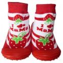 Chaussons-chaussettes enfant antidérapants semelle souple | Grosse fraise