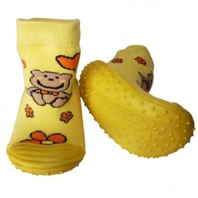 Hausschuhe - Socken Baby Kind geschmeidige Schuhsohle Junge | Kleiner Bär
