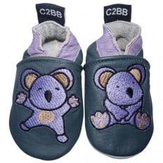 Krabbelschuhe Babyschuhe geschmeidiges Leder - Mädchen | Koala