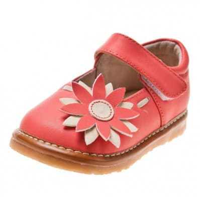Little Blue Lamb - Chaussures à sifflet | Babies rose marguerite