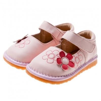Little Blue Lamb - Scarpine bimba primi passi con fischietto | Babies rosa fiore rosso