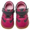 Little Blue Lamb - Krabbelschuhe Babyschuhe squeaky Leder - Mädchen | Sneakers rosa und grau