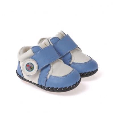 Chaussures premiers pas cuir souple baskets fourrées