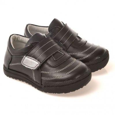 CAROCH - Zapatos de suela de goma blanda niños   Zapatillas de deporte negras