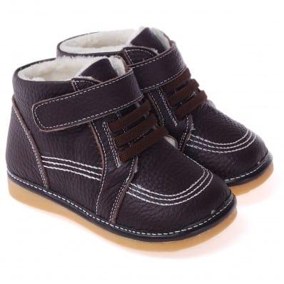 Chaussures semelle souple montantes fourrées