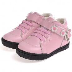 CAROCH - Zapatos de suela de goma blanda niñas | Zapatillas de deporte forradas rosa
