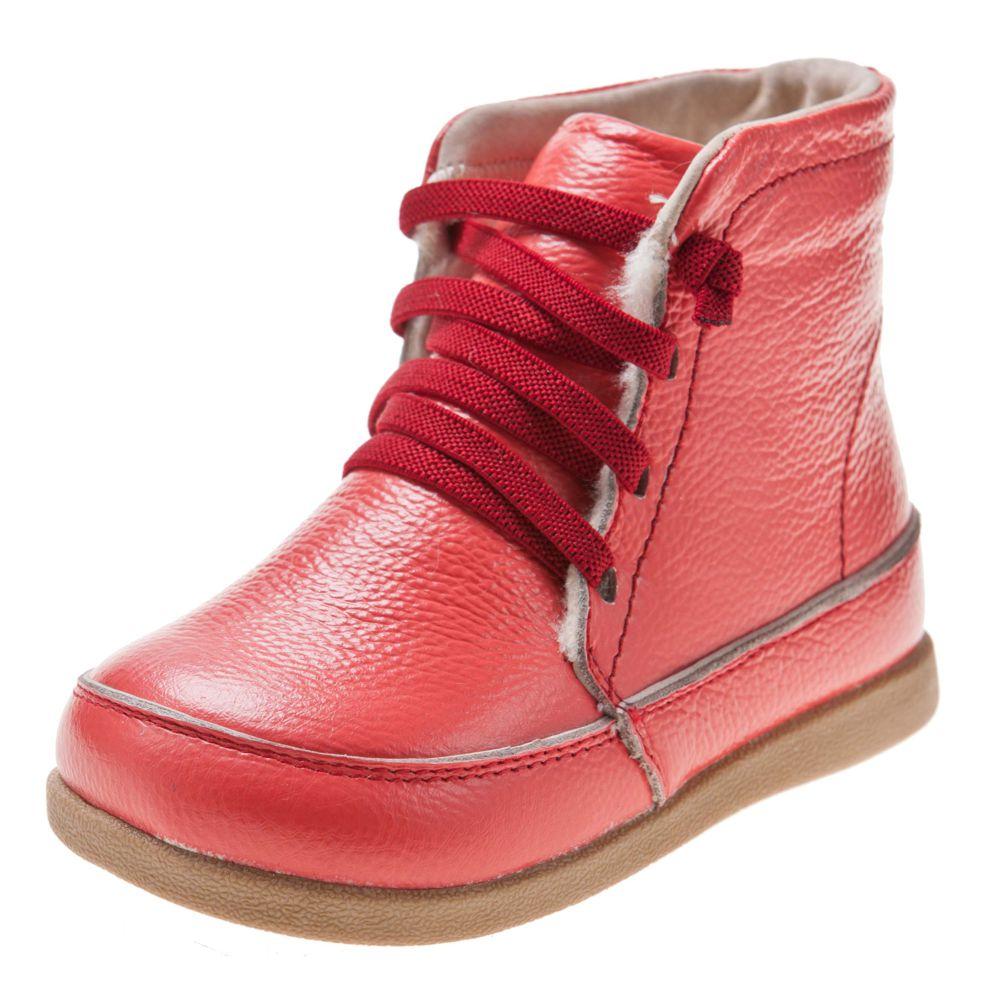 le dernier bdc16 defd4 Little Blue Lamb - Chaussures semelle souple | Bottes saumon lacets rouge