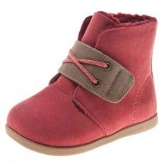 Little Blue Lamb - Zapatos de suela de goma blanda niñas | Botines terciopelo asalmonado