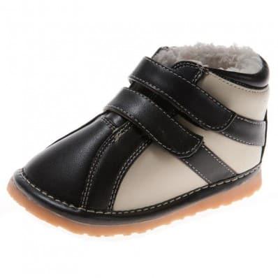 Little Blue Lamb - Chaussures à sifflet | Montantes noir et blanc