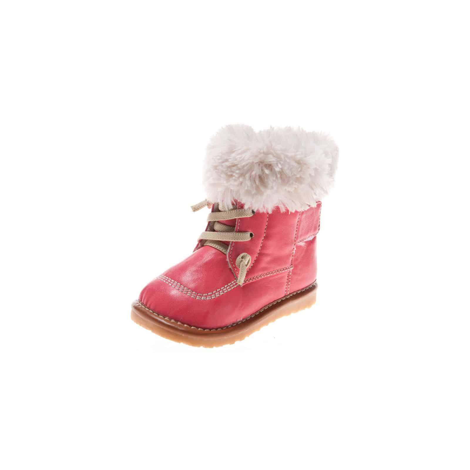Little Blue Lamb - Zapatillas de material sintético para niño, color rosa, talla 20