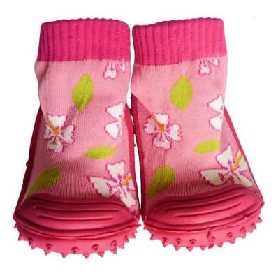 Scarpine calzini antiscivolo bambini - ragazza | Fiore di ciliegio