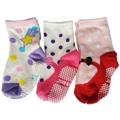 3 paires de chaussettes antidérapantes bébé enfant de 1 à 3 ans | Lot 16