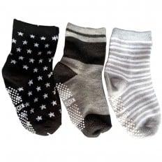3 paia di calzini antisdrucciolo bambino di 1 a 3 anni | Ragazzo 22