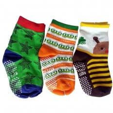 3 paia di calzini antisdrucciolo bambino di 1 a 3 anni | Ragazzo 26