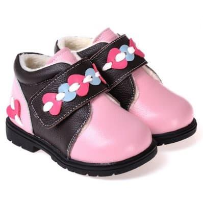 CAROCH - Zapatos de suela de goma blanda niñas | Zapatillas de deporte forradas rosa y negra