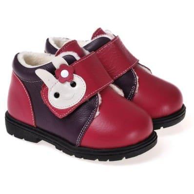CAROCH - Chaussures semelle souple ultra résistante | Montantes fourrées rose foncé lapin