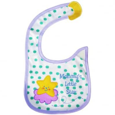 Baby girl Embroidered bibs | Star