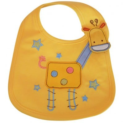 Baby boy Embroidered bibs | Giraffe