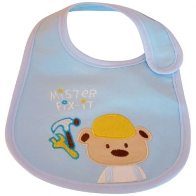 Baby boy Embroidered bibs | M. Fix it