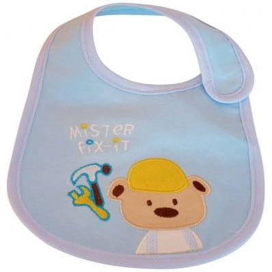 Bavoir bébé garçon brodé en coton   Bricoleur