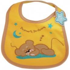 Lätzchen Baby Jüngen gestickte Baumwolle | Kleiner Bär