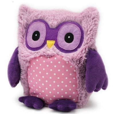 INTELEX - HOOTY peluche bouillotte sèche - micro-onde | Hibou violet
