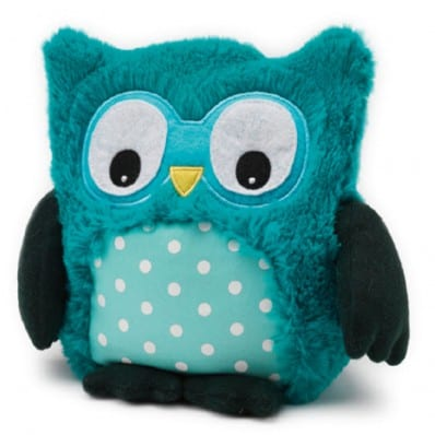INTELEX - HOOTY plush Microwaveable warmer | Turquoise owl