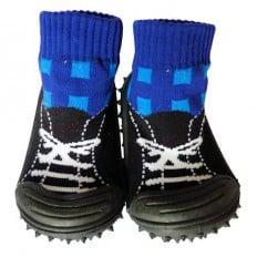 Hausschuhe - Socken Baby Kind geschmeidige Schuhsohle Junge | Schwarze und blaue turnschuhe