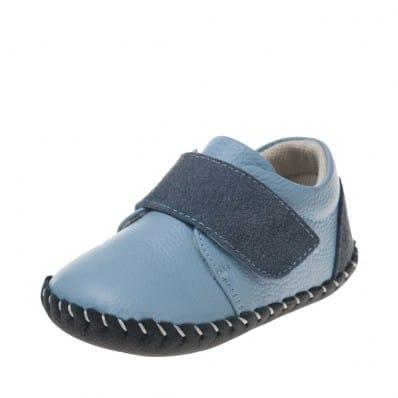 Little Blue Lamb - Krabbelschuhe Babyschuhe Leder - Jungen   Blau und Marineblau turnschuhe