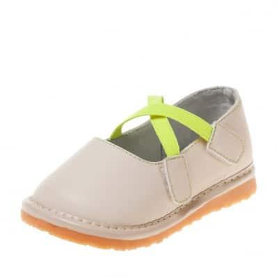 Little Blue Lamb - Zapatos de cuero chirriantes - squeaky shoes niñas | Beige