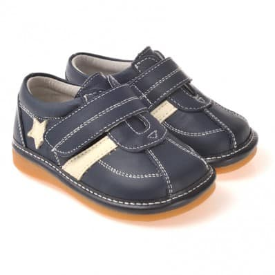 CAROCH - Chaussures à sifflet | Baskets bleu marine étoile blanche